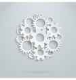 round gears infografhic vector image