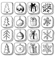 Set of christmas sketch icons vector image vector image