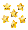 3d star set vector image