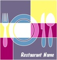 Colorful restaurant menu vector image