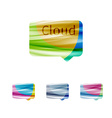 Cloud speech bubble abstract sign vector image