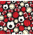 various sport balls seamless color black pattern vector image