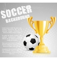 soccer competition vector image