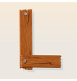 wooden letter l vector image