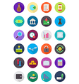 Color round finance icons set vector image vector image
