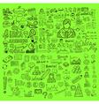 Business doodles Sketch set infographics elements vector image