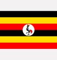 Ugandan flag vector image vector image