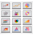 Business data market elements vector image