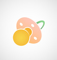 Icon dummy for the baby vector image