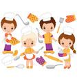 Little Chefs Set vector image