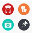 modern medicine colorful icons set vector image