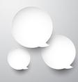 Paper white round speech bubbles vector image