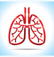 red ribbon lung logo vector image