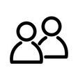 two people icon symbol of group or pair of vector image