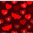 Valentine Hearts Seamless vector image