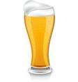 glass of light beer vector image