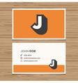 business card letter J vector image vector image