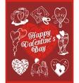 Happy valentines day - set vector image vector image