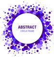 Violet Abstract Circle Frame Design Element vector image vector image