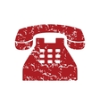Red grunge Telephone logo vector image