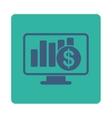 Sales Monitor Icon vector image