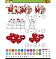 math game cartoon vector image vector image