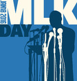 Martin Luther King Day January 18 2016 vector image vector image