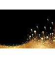 Golden Snow vector image vector image
