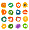 Different technology silhouette icons collection vector image