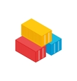 Cargo containers icon isometric 3d style vector image