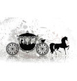 Carriage horse grunge vector image