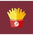 Franch fries icon vector image