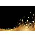 Golden Snow vector image