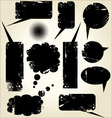 Grunge dirty speech bubbles vector image