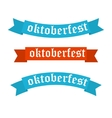 Oktoberfest banners in bavarian colors vector image