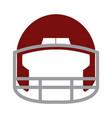 red helmet football equipment sport image vector image