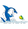 shark and fish vector image