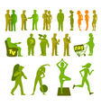 Sport and physical inactivity silouete set Good vector image
