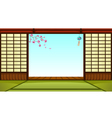 Japanese room vector