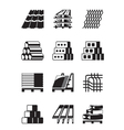 Building and construction materials vector image vector image