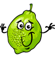 funny lime fruit cartoon vector image vector image