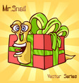 mr snail with surprise vector image