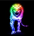 Spectrum fire lion vector image vector image