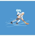 Hockey Player on Ice vector image