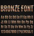 Bronze font vector image