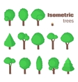 Isometric trees set vector image