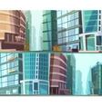 Modern Buildings Otdoor 2 Banners Set vector image