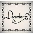 Calligraphic elements month - black design vintage vector image