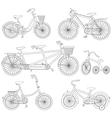 Bicycle Set vector image