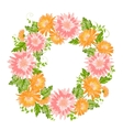 Chrysanthemum garland composition vector image